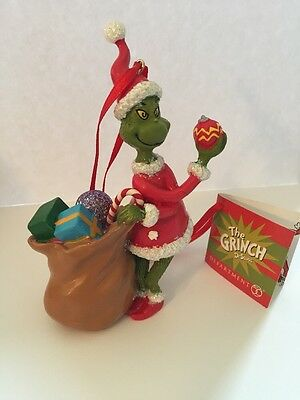 Department 56 The Grinch with bag ornament Dr. Seuss 4044987