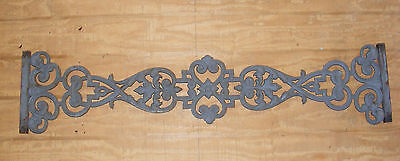 Antique Victorian Baluster Wrought Iron Salvage Piece Wall Decor Garden Art