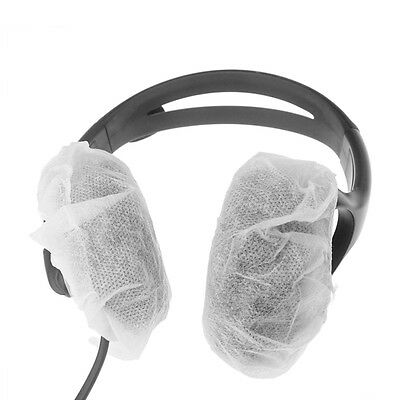 40 PCS Large Disposable Sanitary Gaming Headphone VR Headset Covers-White