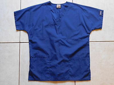Cherokee Workwear Scrub Top--Size XS--Navy blue