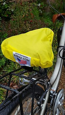 Waterproof Bicycle Seat Cover, Saddle Cover, Bike cover, Made in USA, Yellow