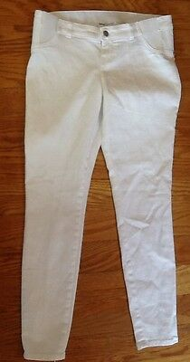 New Liz Lange Maternity Ankle Skinny Jeans White Size XS 0-2