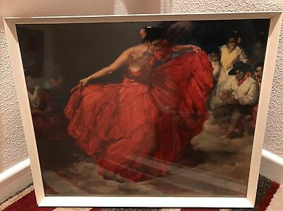 Francisco Clemente The Red Skirt Picture Print Vintage Tretchikoff Lynch 1960s