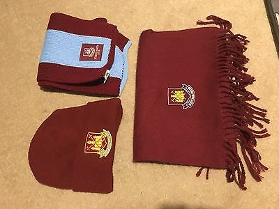 West Ham Scarves and Hat