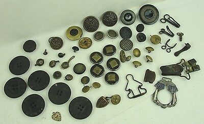WW2 US BUTTONS and other METAL and WOODEN parts - Collected near Gettysburg!