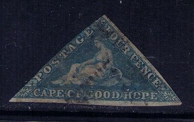 Cape of Good Hope 1853 Sc#2, SG#2 ,4p deep blue Hope Seated