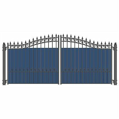 ALEKO 2Pcs 9'X4 1/2' Privacy Windscreen for Dual Gates 18' long and 5' high
