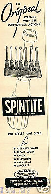 1952 Print Ad of Stevens Walden Inc Spintite Wrenches
