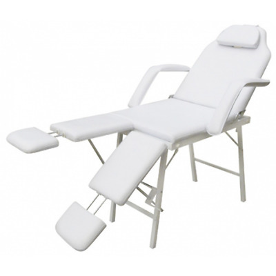 # Massage Table 3 Fold Aluminium Chair Bed Portable Beauty Therapy Treatment Whi