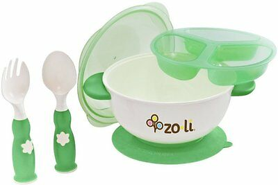 STUCK Suction Feeding Bowl Kit, ZoLi, Green