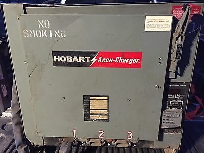 Hobart 1050C3-18, Accu-Charger, 36 Volts, 210 Amps, 18 Cell, 3 Ph, 60 Hz