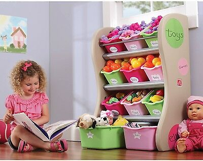 New Step2 Storage Bin Organizer Pink Toy Box Organizer Plastic