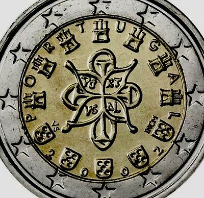Portugal 2 Euro Coin Old Middle Age Seal 2002 New BUNC from Roll Shiny