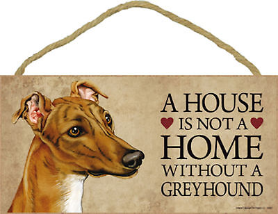 A house is not a home without a Greyhound Wood Puppy Dog Sign Made in USA