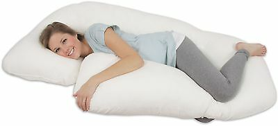 NEW! Leachco All Nighter Total Body PILLOW Ivory Pregnancy Sleep Support Hips