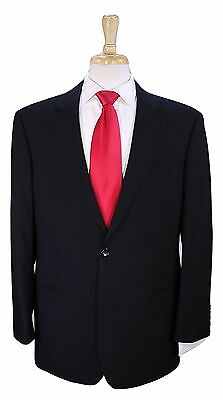 * ARMANI COLLEZIONI * Recent Solid Black 2-Btn Modern Fit Wool Luxury Suit 42R