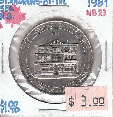 St. Andrews by the Sea New Brunswick Canada - Trade Dollar - 1981