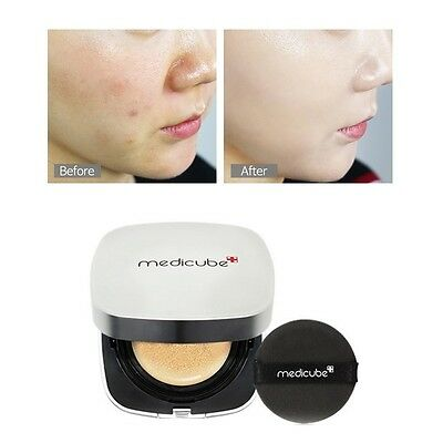 K-beauty Medicube Red Cushion Pact Acne Trouble High Coverage for Sensitive Skin