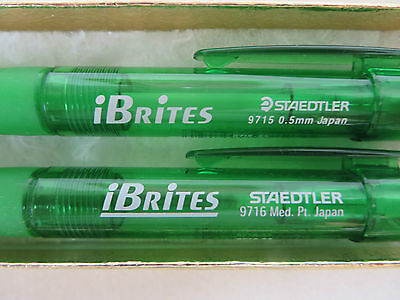 STAEDTLER iBRITES GREEN PEN # 9716 AND PENCIL # 9715 WRITING COMBO TRANSPARENT