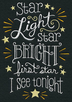 Star Light Star Bright Embroidered pillowcase  - can personalise