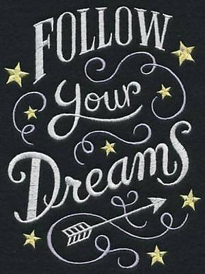 Follow Your Dreams - Embroidered pillowcase  - can personalise