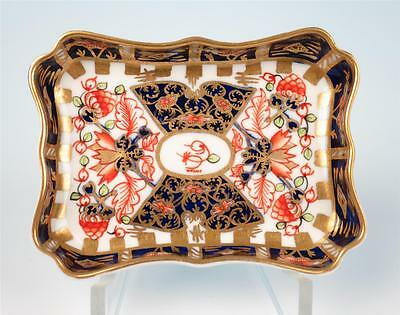 "c.1923 Royal Crown Derby Miniature 3"" Witches Imari Tray Dish Porcelain 6299 Pin"