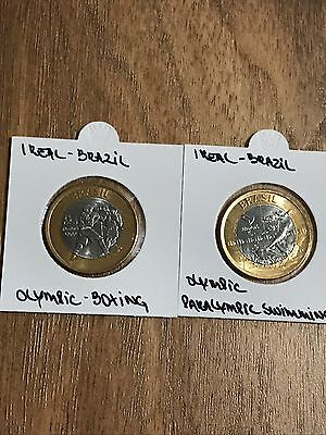 Brazil Olympic Set 2 Coins 1 Real