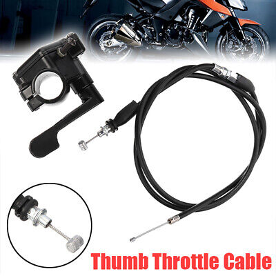 50-150cc 110cc Thumb Throttle Accelerator Cable For 4 Stroke Quad ATV Pit Bike