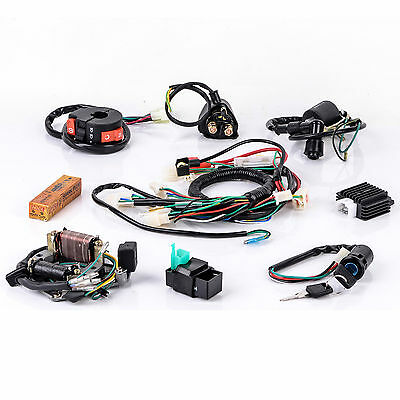 1Set 50 70 90 110 125CC CDI Wire Harness Assembly Wiring Kit ATV Electric Quad