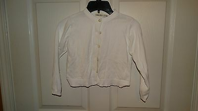NICE GIRLS cherokee cardigan button up long sleeve sweater size small 6/6x white