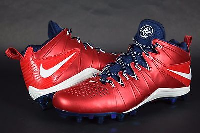 New Nike Huarache 4 Lax Team USA 2014 Lacrosse Cleats 488526 Promo sz 12.5 RED