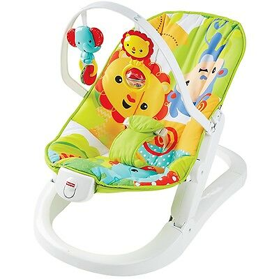 Fisher-Price Rainforest Friends Fun 'n Fold Bouncer, Baby Activity Chair