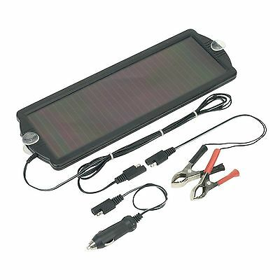 Sealey SPP01 Car Boat Van Solar Power Panel Trickle Battery Charger 12V/1.5W
