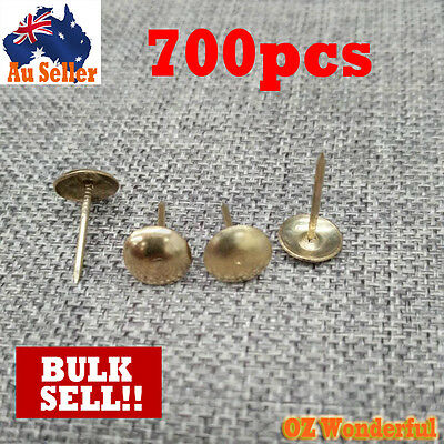 """700PCS 3/4"""" Round Head Upholstery Chair Nails Furniture Craft Studs Tacks Pins"""
