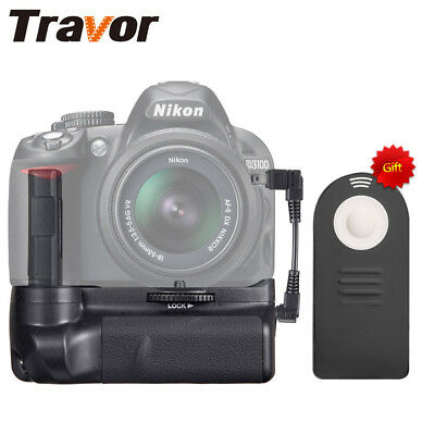 Travor Battery Grip for Nikon D3100 D3200 D3300 Camera with IR Remote Control