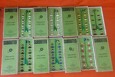6X Original & Genuine Subbuteo Boxed TeamHeavyweight .00 Scale TEAM (C.100) LOT