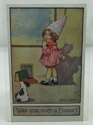 Was You Ever A Dunce? Agnes Richardson Antique Postcard To Neal West Deeping