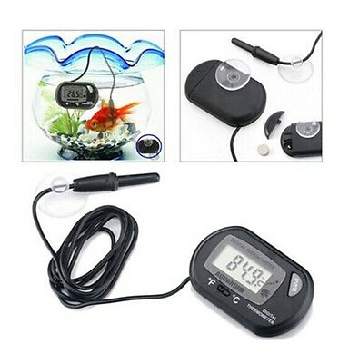Digital LCD Aquarium Thermometer Fish Tank Water Terrarium Temperature UK STOCK