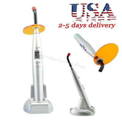 USA Dental 5W Wireless Cordless LED Curing Light Lamp 1500mw 420-480nm Silver
