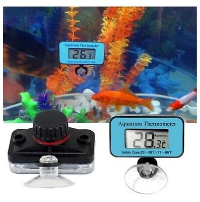 Digital LCD AquariumWaterproof Thermometer Submersible Fish Tank Water Terrarium
