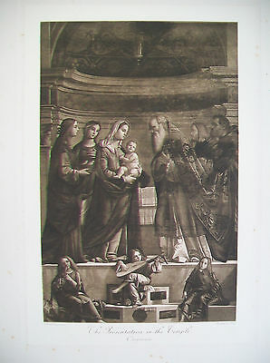 CARPACCIO - The Presentation in the Temple  - 19th century engraving