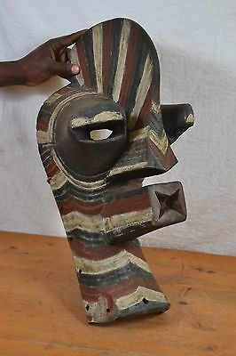 African tribal art MASK, Songye marionette Mask from Southeastern Congo (Zaire)