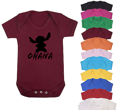 Ohana Disney Inspired Baby Vest Babygrow Baby Gifts Baby Shower Gifts New Baby