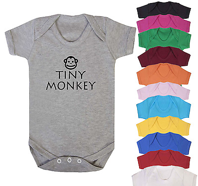 Tiny Monkey Baby Vest Babygrow Baby Gifts Babywear Baby Shower Gifts Cute Baby