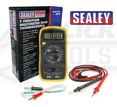 SEALEY MM20 CAR Digital Multimeter 8 Function with Thermocouple LCD Display