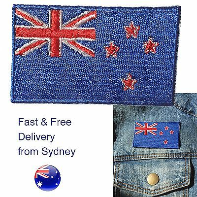New Zealand NZ flag iron on patch Kiwi Aotearoa flags iron-on patches embroidery