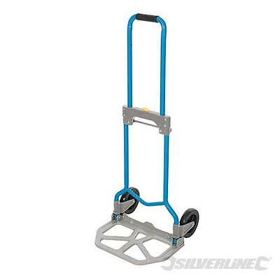 Silverline 872993 Steel Folding Foldable Hand Truck With Telescopic Handle.