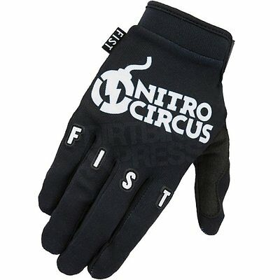 New FIST Nitro Circus Black GLOVES Motocross Downhill BMX S M L XL XXL