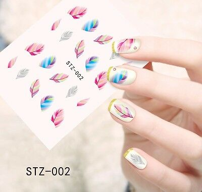 Stickers Ongles Water Décal Nail Art Plume STZ-002 LIVRAISON 24/48H