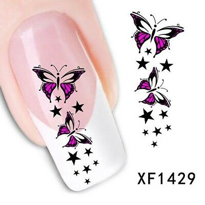 Stickers Ongles Water Décal Nail Art Papillon YZW1429 LIVRAISON 24/48H